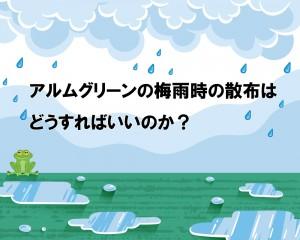 「アルムグリーンの梅雨時の散布はどうすればいいのか?」を詳しくご紹介いただきました。